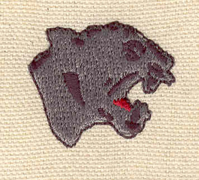 Embroidery Design: Panther head 1.28w X 1.13h