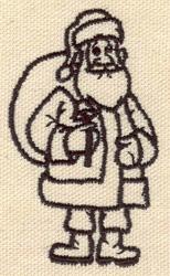 Embroidery Design: Santa Claus 1.63w X 2.82h