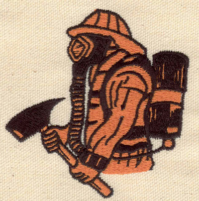 Embroidery Design: Fireman with axe 3.04w X 3.08h