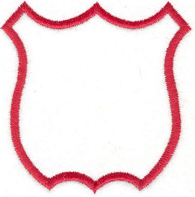 """Embroidery Design: Shield 13.10""""x3.04"""""""