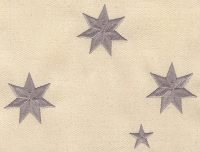Embroidery Design: Group of Stars 6.98w X 5.28h