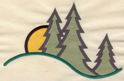 Embroidery Design: Forest scene 7.09w X 4.52h