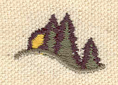 Embroidery Design: Forest scene 1.00w X 0.64h