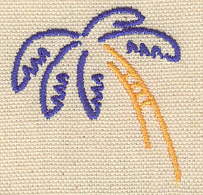 Embroidery Design: Palm tree C 1.77w X 1.84h