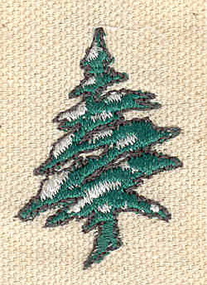 Embroidery Design: Evergreen G 0.99w X 1.54h