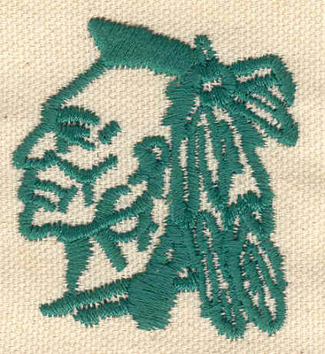 Embroidery Design: Indian head A 1.89w X 2.10h