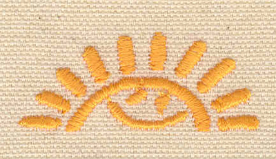 Embroidery Design: Sun with happy face1.87w X 0.78h