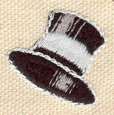 Embroidery Design: Top hat 1.01w X 0.98h