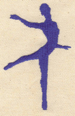Embroidery Design: Ballet dancer C 2.17w X 3.37h