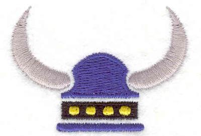 "Embroidery Design: Viking Helmet  1.48"" x 2.06"""