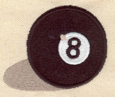 Embroidery Design: 8 Ball large 2.84w X 2.34h