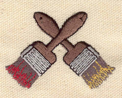 Embroidery Design: Crossed paint brushes 2.14w X 1.52h