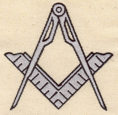 Embroidery Design: Compass and ruler 3.52w X 3.43h