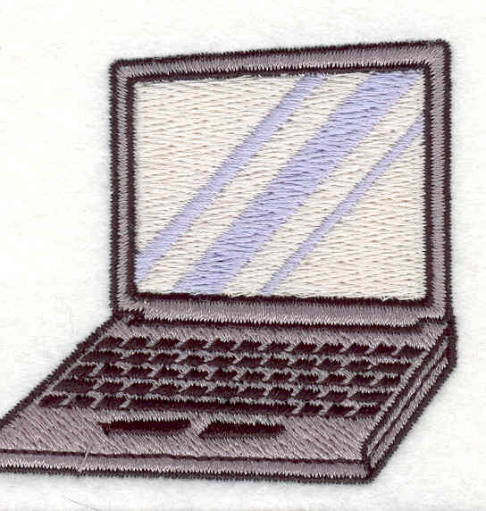 Embroidery Design: Laptop 2.50w X 2.67h