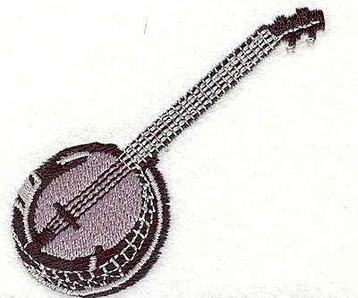 """Embroidery Design: Banjo 2.36"""" X 2.53"""""""
