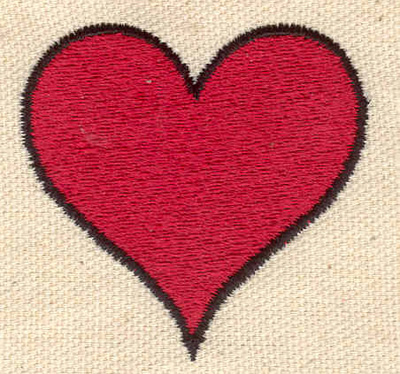 Embroidery Design: Heart 1.99w X 1.91h