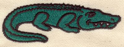 Embroidery Design: Alligator B 3.46w X 1.19h