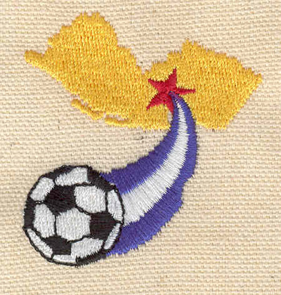 Embroidery Design: Soccer ball with star 2.09w X 1.89h