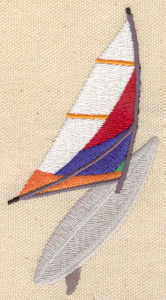 Embroidery Design: Wind Surfing 2.28w X 4.28h