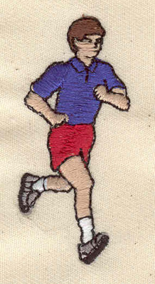 Embroidery Design: Runner 1.00w X 2.27h