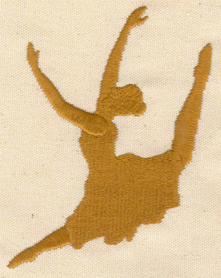 Embroidery Design: Dancer C large  3.67w X 5.07h