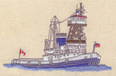 Embroidery Design: Coast Guard vessel 3.79w X 2.54h