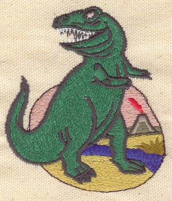 Embroidery Design: Dinosaur Tyrannosaurus 2.75w X 3.20h