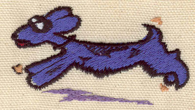 Embroidery Design: Dog running 2.76w X 1.53h