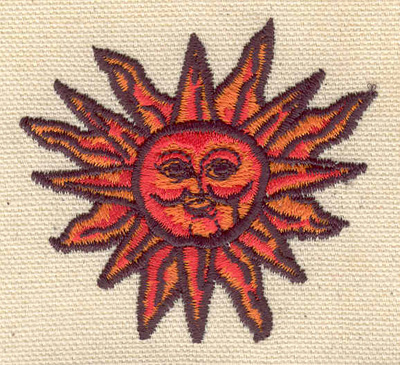 Embroidery Design: Aztec sun 2.56w X 2.33h