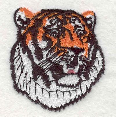 "Embroidery Design: Tiger head B 1.84""w X 2.08""h"
