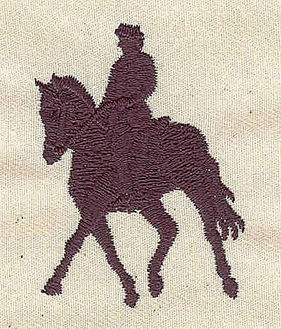 Embroidery Design: Horse and rider silhouette2.18in H x 1.64in. W