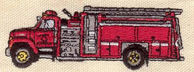 Embroidery Design: Fire truck 3.42w X 1.24h