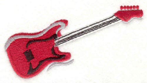"Embroidery Design: Electric Guitar 1.83"" X 3.53"""