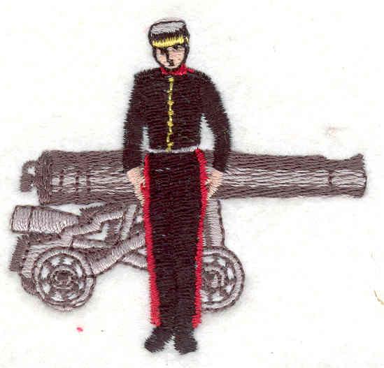 Embroidery Design: Military Guard 22.31w X 2.61h
