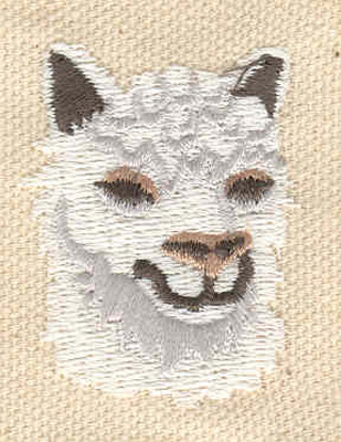 Embroidery Design: Alpaca 1.28w X 1.54h