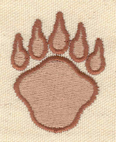 Embroidery Design: Paw 1.67w X 2.08h