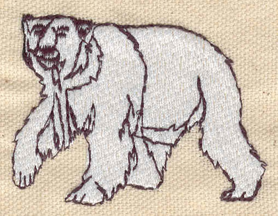 Embroidery Design: Polar bear 2.36w X 1.78h