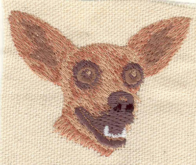 Embroidery Design: Chihuahua 2.35w X 1.88h