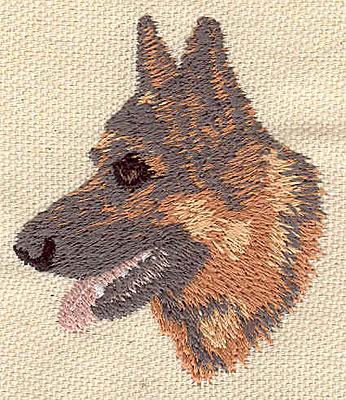 Embroidery Design: German Sheppard head  1.94w X 2.26h