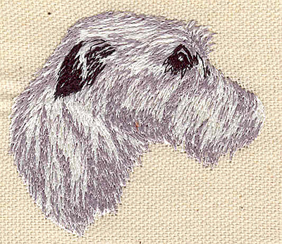 Embroidery Design: Terrier A 2.46w X 2.19h
