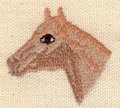 Embroidery Design: Horse head 1.65w X 1.61h