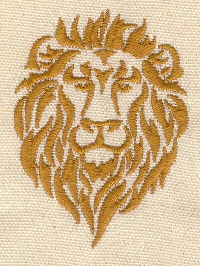 Embroidery Design: Lion head 2.21w X 3.02h
