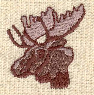 Embroidery Design: Moose head 1.28w X 1.43h