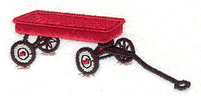 "Embroidery Design: Wagon 3.15""w X 1.37""h"