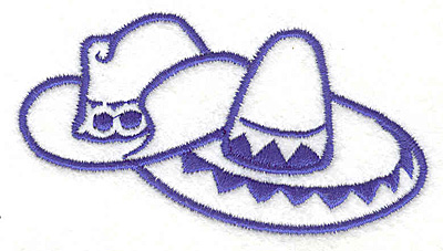 """Embroidery Design: Hats 3.59""""w X 2.03""""h"""