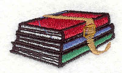 """Embroidery Design: Books 1.69""""w X 0.95""""h"""