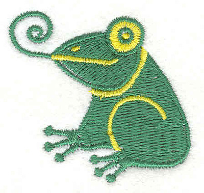 """Embroidery Design: Frog 2.02""""w X 1.87""""h"""
