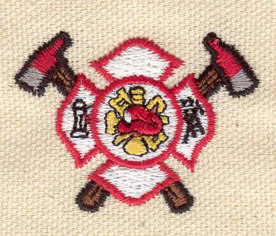 Embroidery Design: Fire Dept. emblem small 1.81w X 1.30h