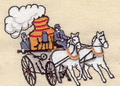 Embroidery Design: Vintage fire truck 3.20w x 2.38h