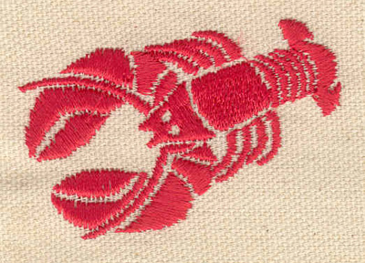 Embroidery Design: Lobster C 2.33w X 1.62h